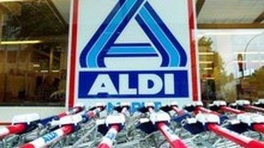 ALDI-Filliale mit Einkaufswagen